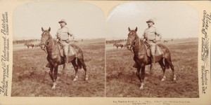 President Theodore Roosevelt Rough Riders Stereoview Photograph
