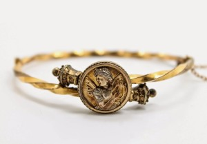 Antique Victorian Butterfly Winged Woman Psyche Bracelet