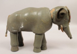 Schoenhut Carved Wood Circus Elephant Toy