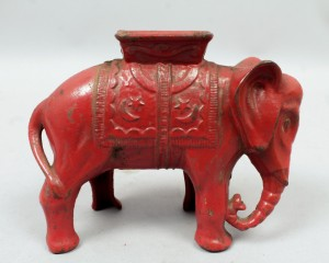 Cast Iron Elephant Still Bank