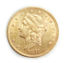 US 1879 Gold Dollar Coin