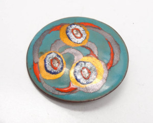 Nelly Natzler Art Deco Modernist Brooch