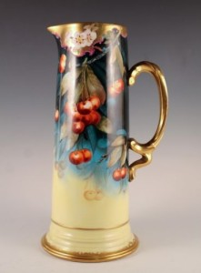 Pickard China Co Hand Painted Cherry Pitcher