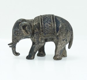 French Silver Figural Elephant Snuff Box