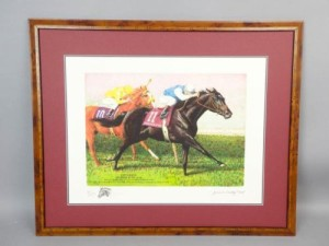 Jenness Cortez original horseracing painting