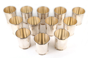 Buy Sterling Silver American Coin Silver Mint Julep Cups